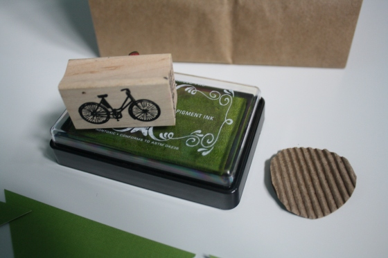 Bicycle Stamp Party Favor Tag