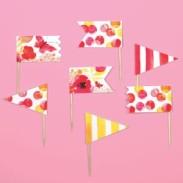 floral party picks