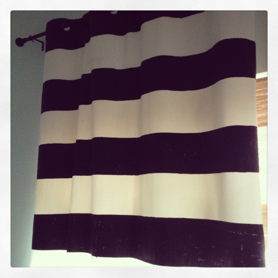 Striped Curtain DIY Fail