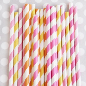 pink lemonade straw mix
