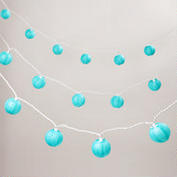 Turquoise Paper Light