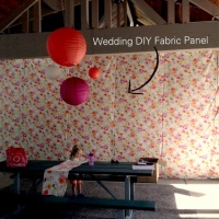 WATF Wednesday - DIY Fabric Panels for Wedding