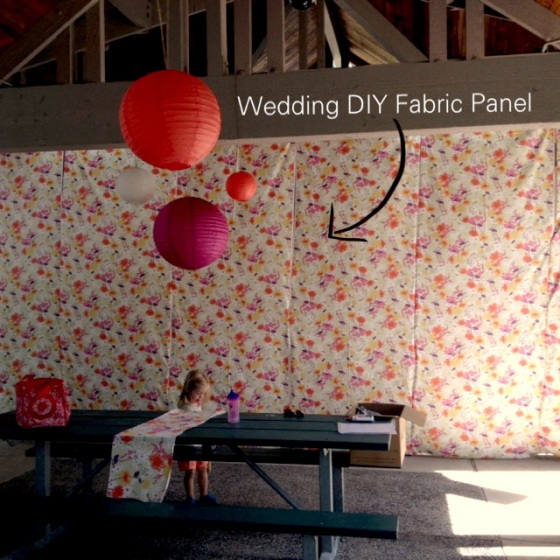 Why All the Fuss Fabric Wedding Panel DIY