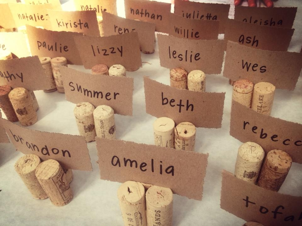 Cork Wedding Place Card Holders - place card holders wine tasting ...