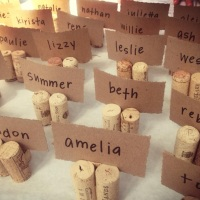 DIY Wedding Place Card Holder Using Cork
