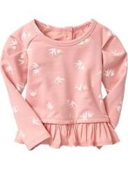 Old Navy Printed Peplum Sweatshirt Toddlers