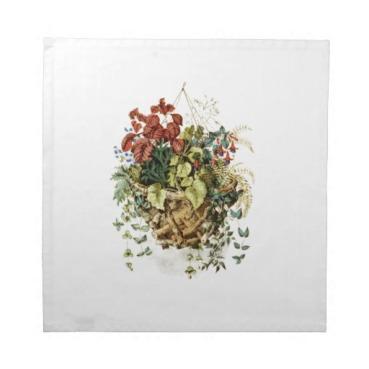 vintage_rustic_basket_floral_leaf_napkin