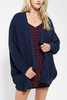 Coincidence and Chance Waffle Knit Cardigan Blue Urban Outfitters
