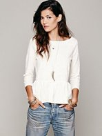 Free People Textured Boxy Peplum