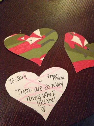 DIY Valentine Project Raisin