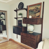 Sneak Peek of our Mid-Century Style Ranch Living Room