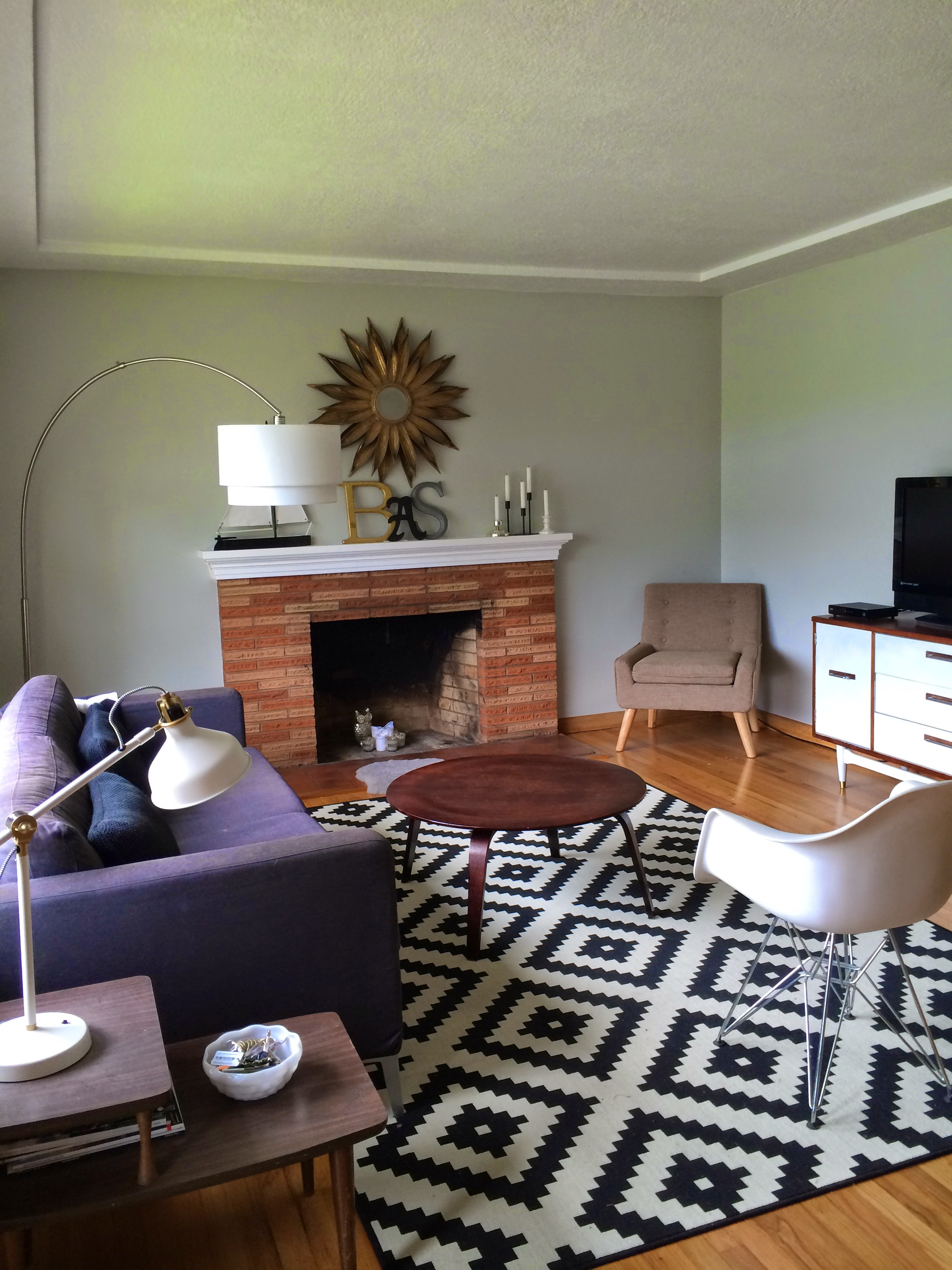 Sneak Peek Of Our Mid Century Style Ranch Living Room