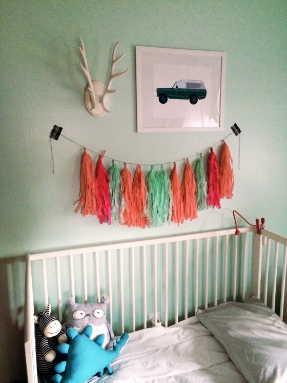 Why All the Fuss Kids Room with Tissue Garland