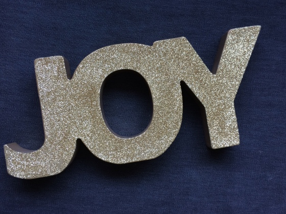 Joy Glitter Gold Sign